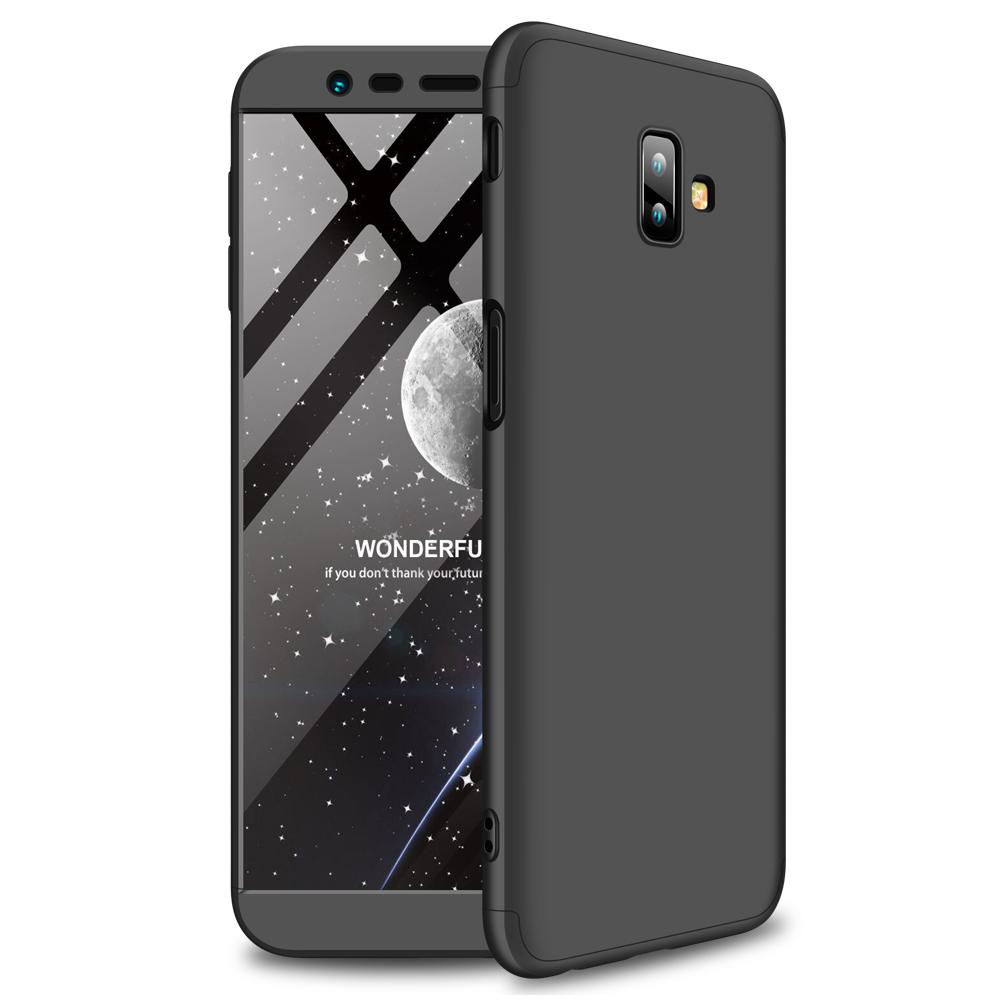 For Samsung J6 Plus/ J6 Prime 3 in 1 360 Degree Non-slip Shockproof Full Protective Case black_Samsung J6 Plus/ J6 Prime