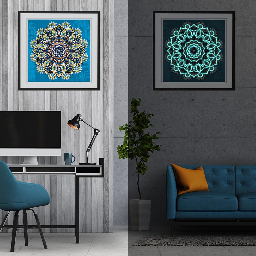 5D DIY Diamond Painting Luminous Special Shape Glow Diamond Painting Cross Stitch Wall Home Decor YGSMT03