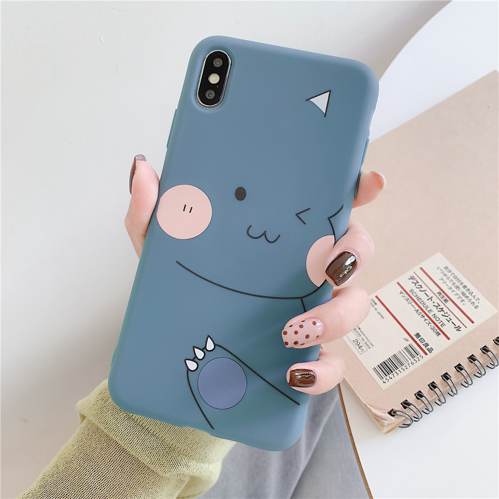 For OPPO F9/F11/A3/A5/A3S/A59/A57/A7X/A83/A9/K1/K3/Realme X Soft TPU Cellphone Case Shell Cartoon Back Cover blue