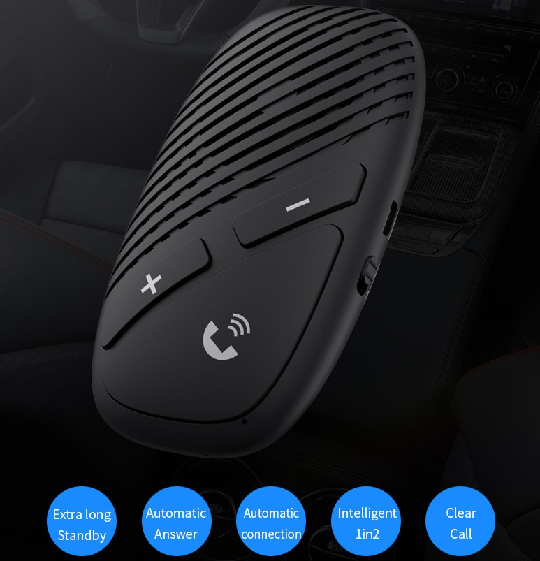 P30 Bluetooth Receiver 5.0 Wireless Audio Receiver for Auto Bluetooth Handsfree Car Kit Speaker Headphone  Auto boot version