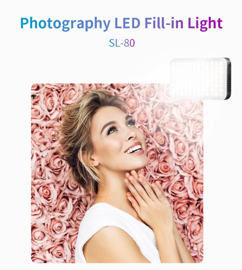 LED Photography Photo Fill Light Makeup Camera 2 Color Temperature Shooting black