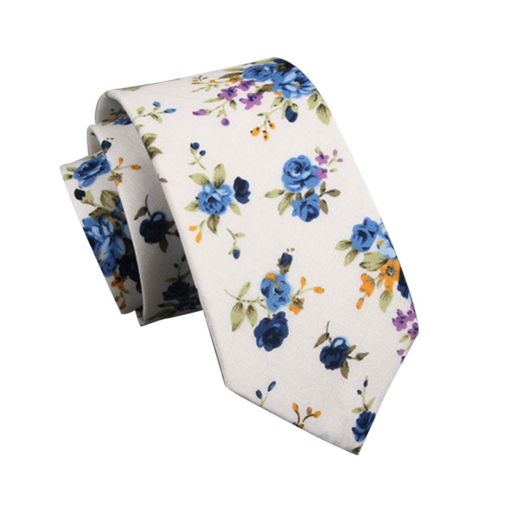 Men's Wedding Tie Floral Cotton Necktie Birthday Gifts for Man Wedding Party Business Cotton printing-031
