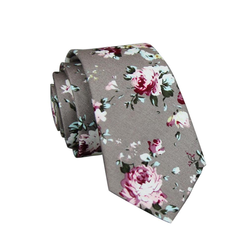 Men's Wedding Tie Floral Cotton Necktie Birthday Gifts for Man Wedding Party Business Cotton printing-033