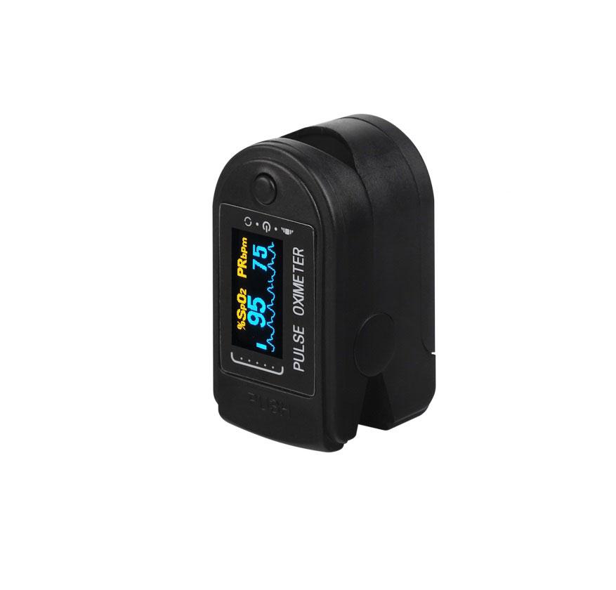 Finger Oximeter OLED Display Blood Oxygen Monitor Oximeter Oxygen Saturation Monitor black
