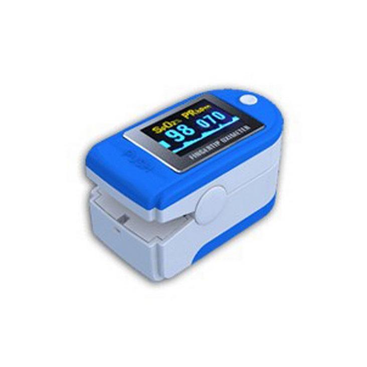 Finger Oximeter OLED Display Blood Oxygen Monitor Oximeter Oxygen Saturation Monitor Light blue