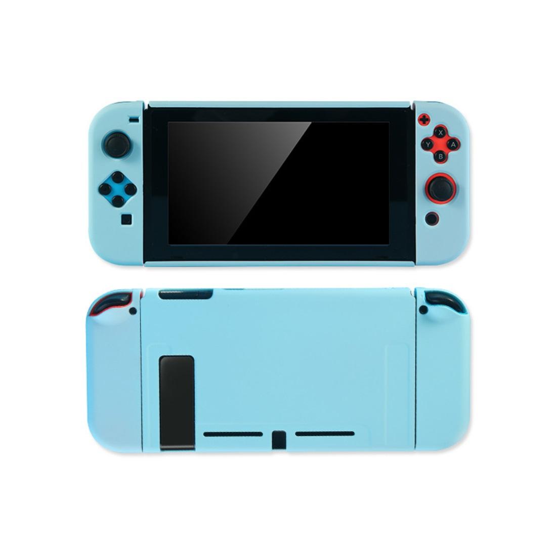 For Switch Host Plastic Split Protective Case Shell Cover Solid Color 17cm x 11cm x 3cm blue