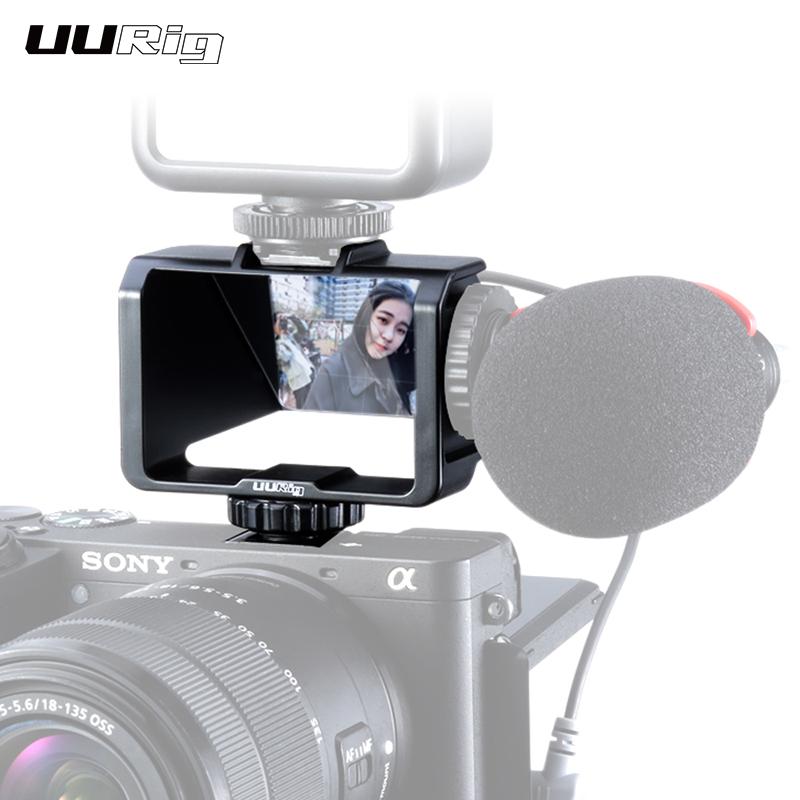 Plastic Selfie Flip for Sony A6500 / 6300 / A7M3 A7R3 Nikon Z6Z7 Mirrorless Camera Solution black