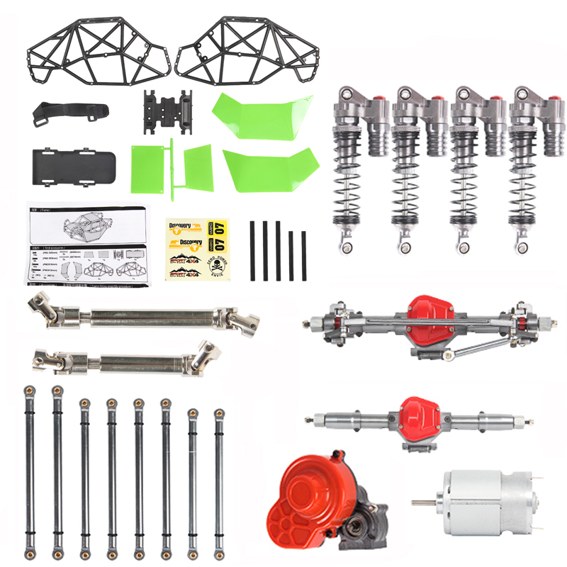 1 Abs Scx10 Full Metal Chassis  Pipe  Frame Climbing Remote Control Car Model Toy Modification Accessories Rb-x02km RB-X02KMG