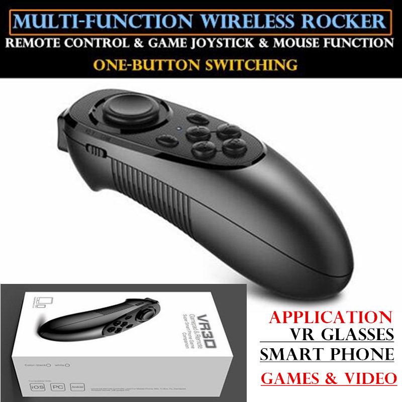 VR Glasses Remote Control Wireless Handle Compatible with Android Ios black