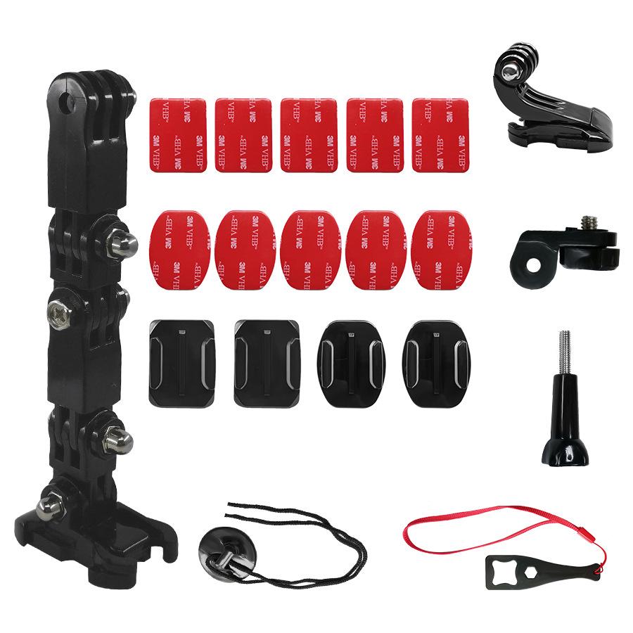 Camera Holder Set for GoPro Motorcycle Helmet Chin Mount Adjustable Chin Bracket Multi Angle Holder 2#