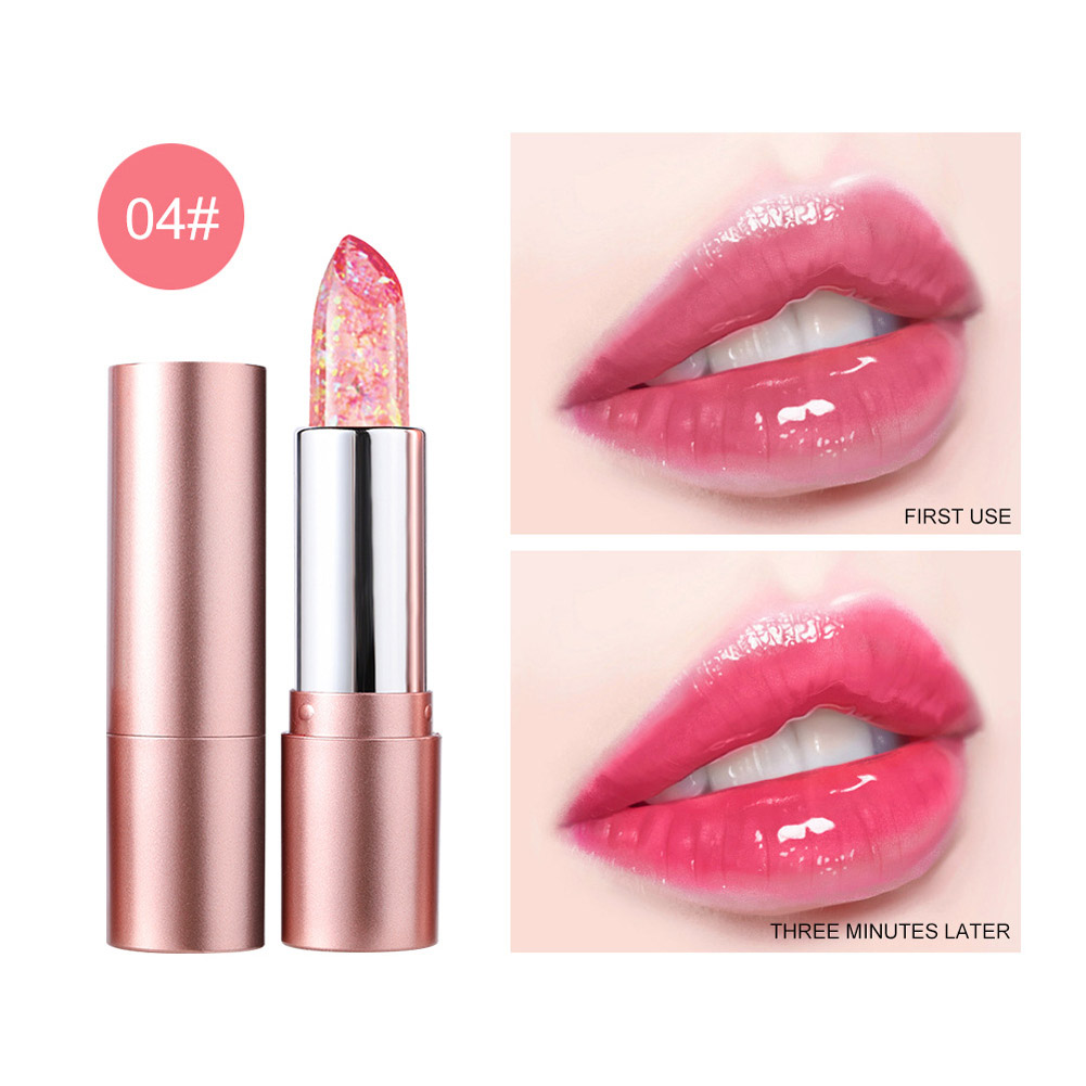 Lip Balm Non-fading Non-stick Cup Moisturizing Color Changing Lipstick Number 4