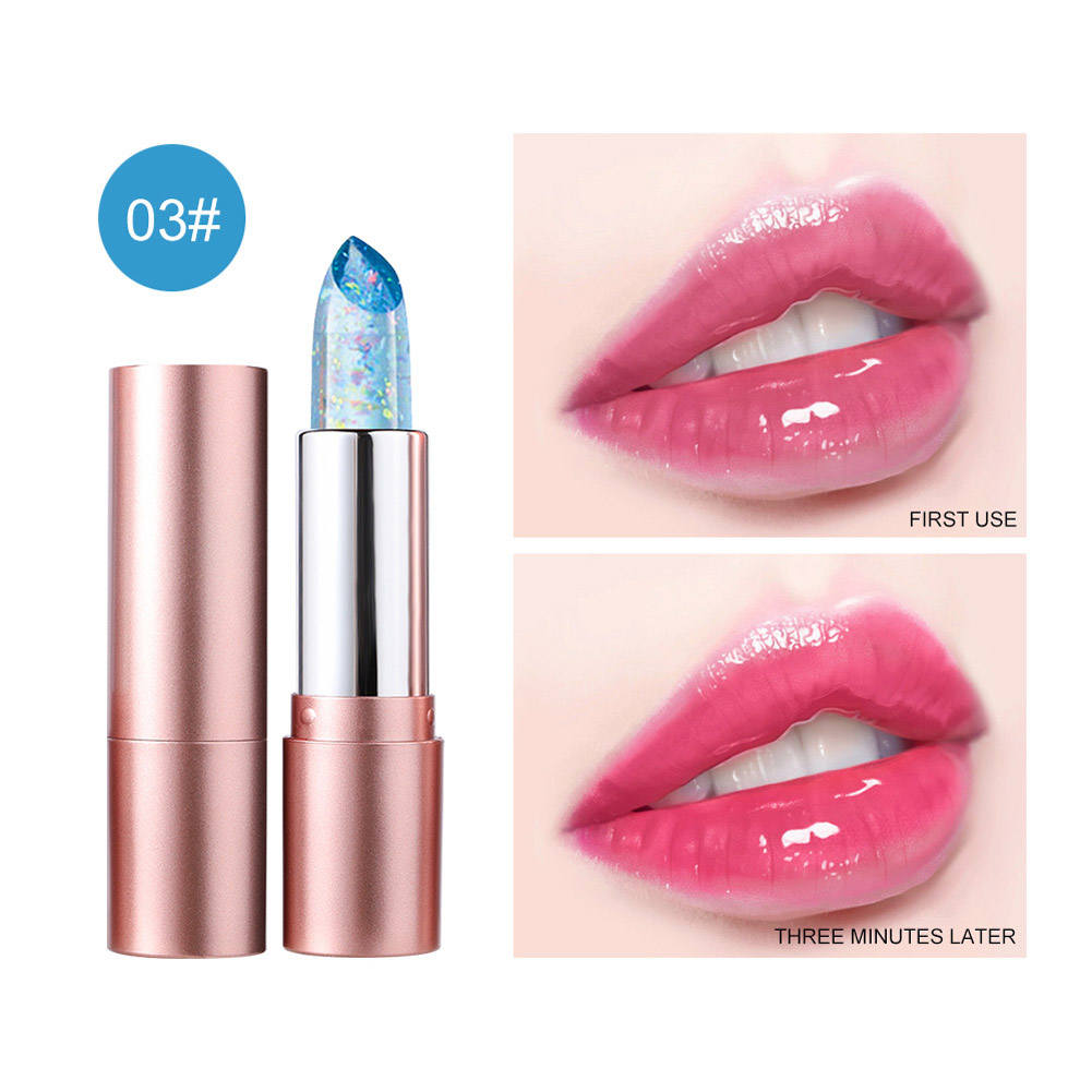 Lip Balm Non-fading Non-stick Cup Moisturizing Color Changing Lipstick Number 3