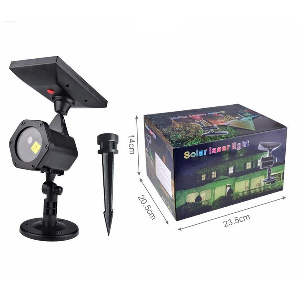 Christmas Laser Projector Sky Star Stage Spotlight IP65 Outdoor Solar Panel Landscape Garden Lawn Light Projector As shown