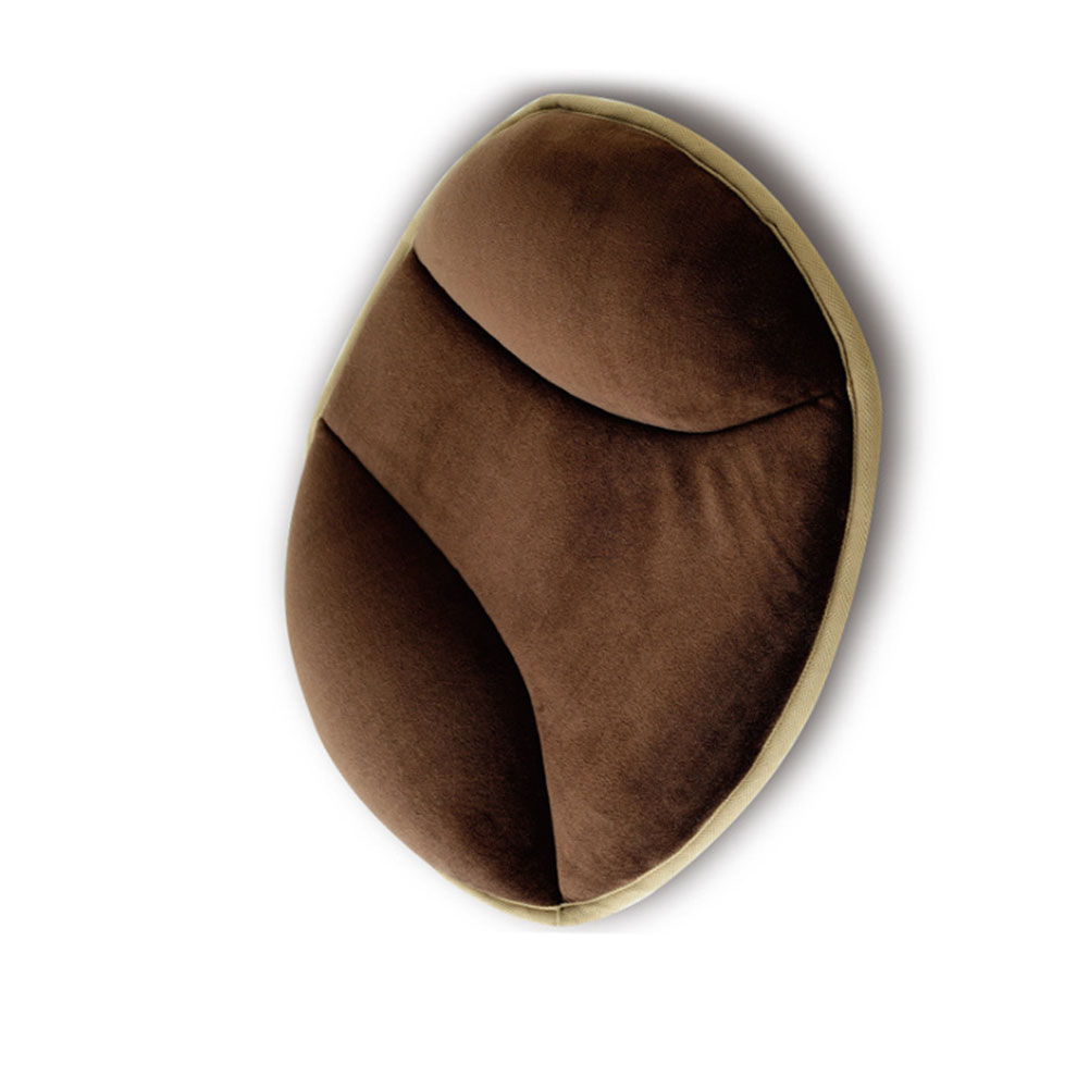 PP Cotton Solid Color Car Seat Cushion Car Home Dual-use Seat Cushion Brown