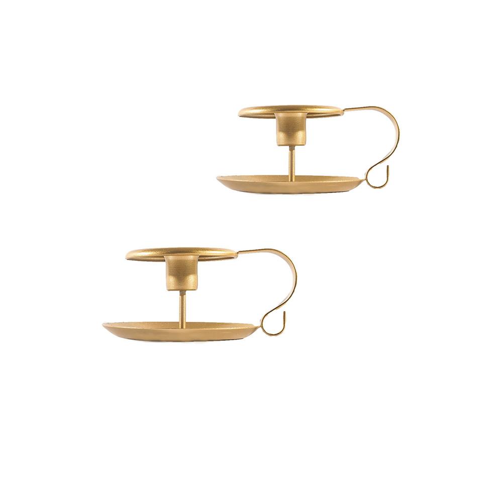 2pcs/set Golden Teacup Candle  Holder Incense Burner Wedding Party Table Top Decoration Gold