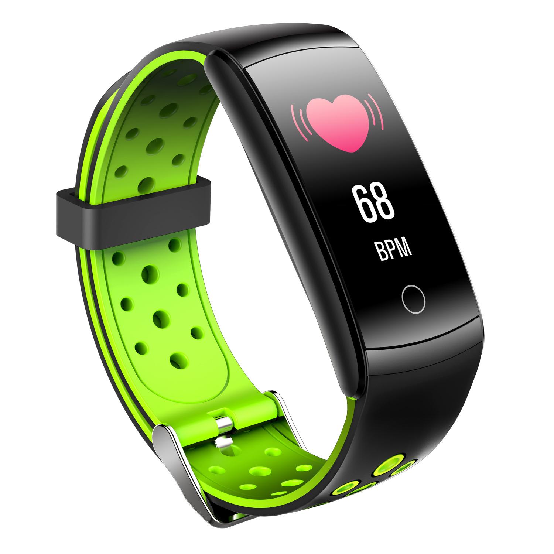 Smart Bracelet Heart Rate Blood Pressure Waterproof Bluetooth Watch Wristband Fitness Tracker  green