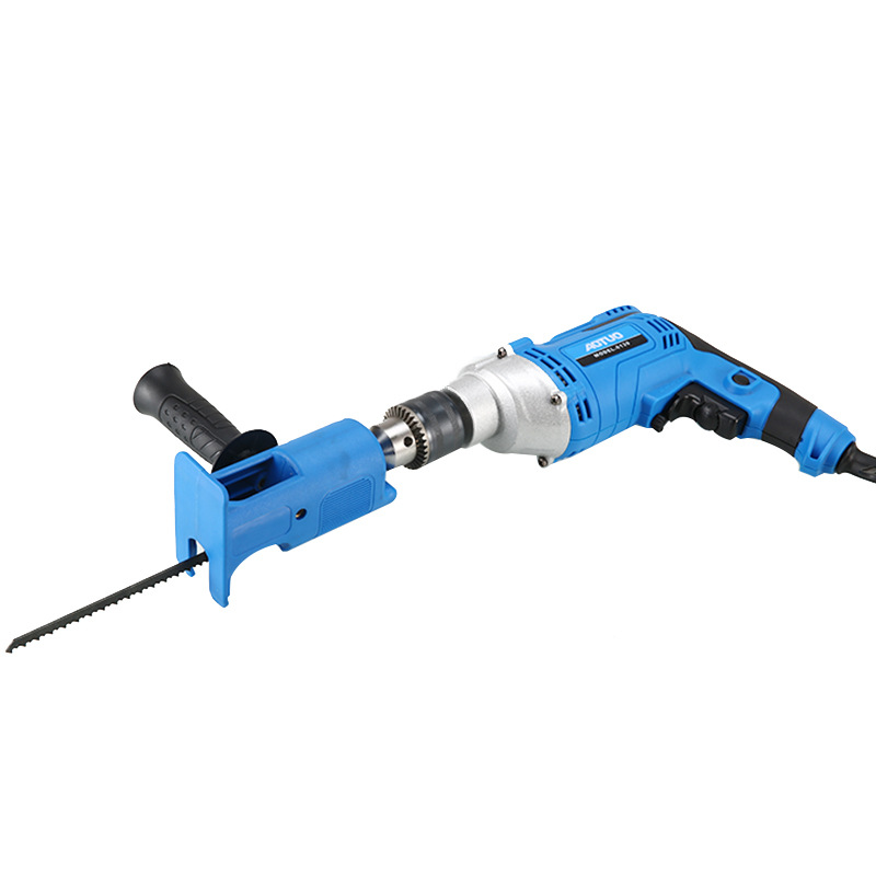 Household Electric  Drill Modified Accessories Saw Reciprocating Blade Saw Drill Woodworking Tools Blue