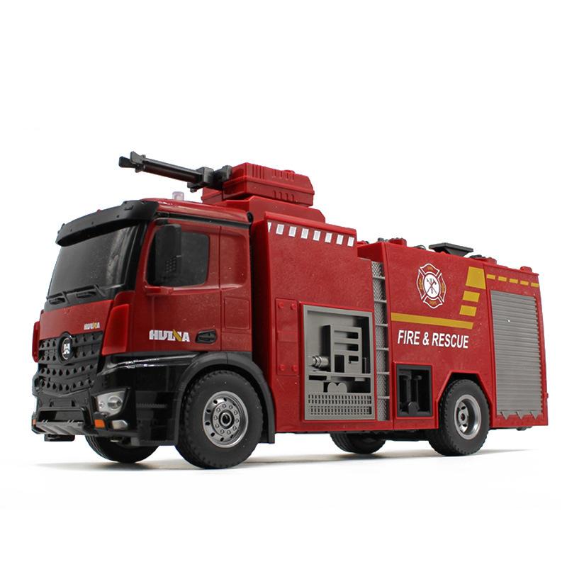 1:14 22-channel Van Type One-button Water Spray Fire Truck Sound Light Firetruck Children Toy Car 1562