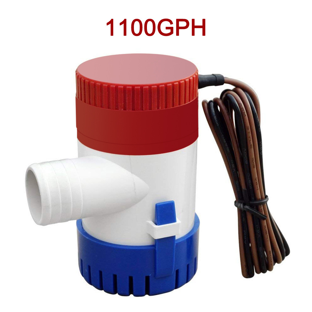 Submersible Boat Bilge Water Pump 12v Automatic Submersible Non-Automatic Marine Electric Bilge Pump 1100GPH