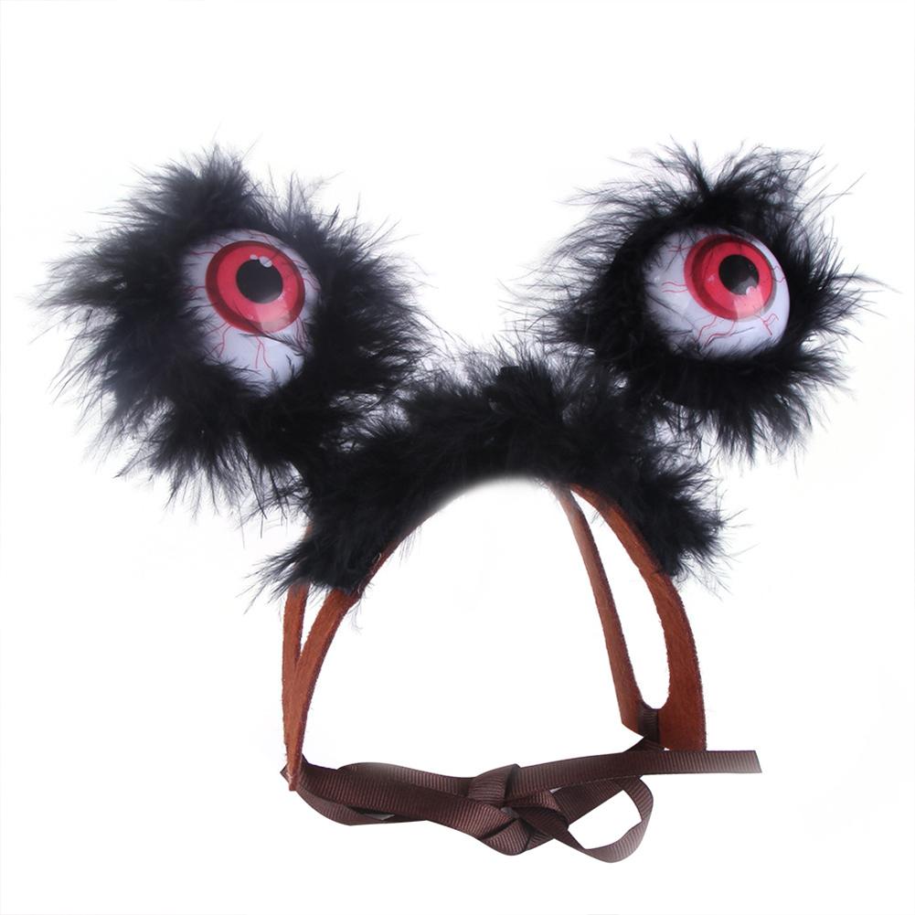 Pet Headgear Halloween Christmas Luminous Cartoon Bigeye Pet Decoration Hat M