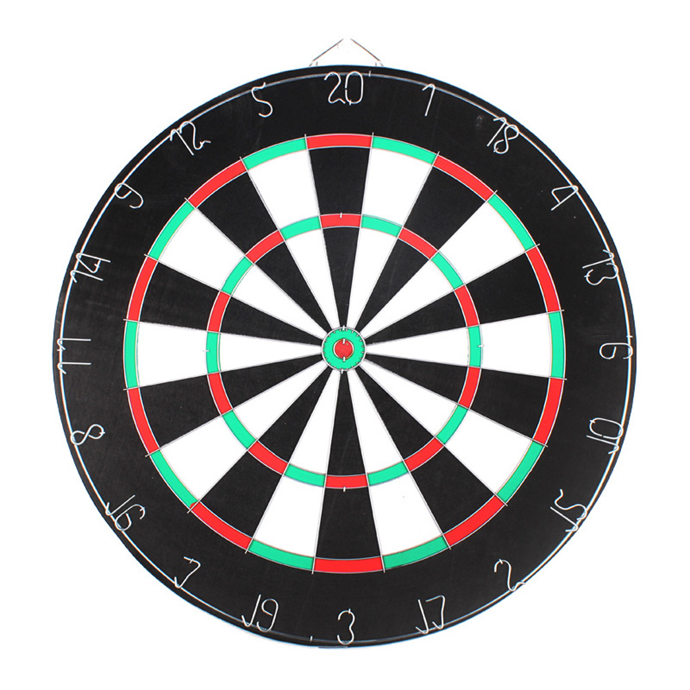 Professional Dartboard Double-sided Dart Board with Darts Set Fitness Equipment 18 inch iron