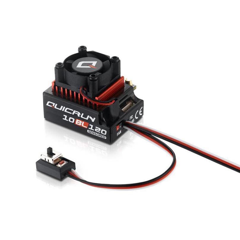 Hobbywing QUICRUN 10BL120 Sensored 120A / 10BL60 Sensored Brushless ESC Speed Controller For 1/10 1/12 RC Mini Car 10BL 120A