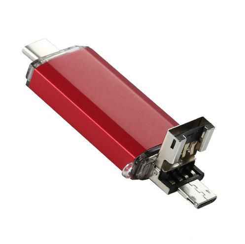 USB Flash Drive Smart Phone USB Flash Drive OTG Pen Drive USB Memory Stick U Disk Type-c three-in-one