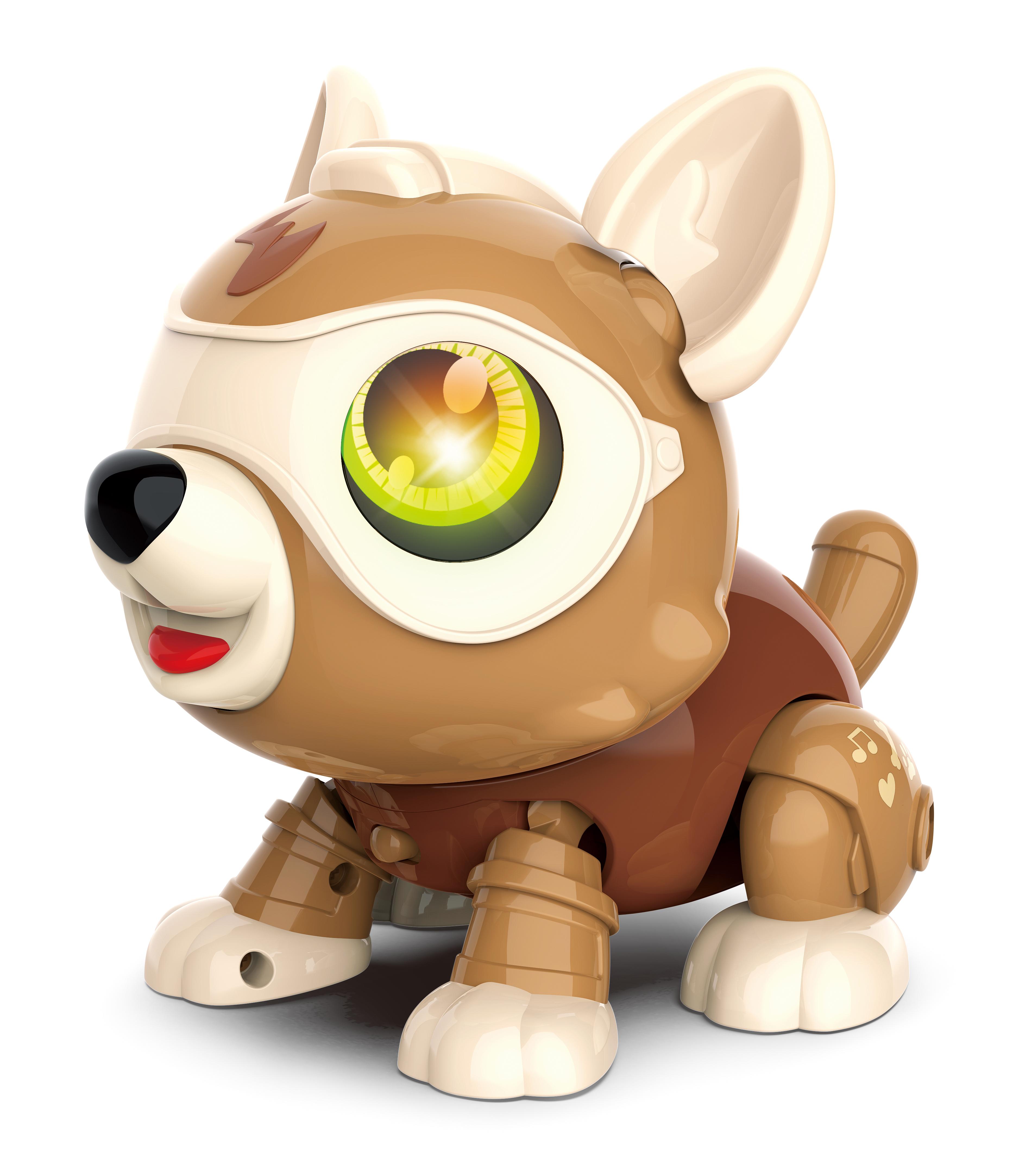 Robot Dog Cute DIY Sing and Dance Parent-child Interactive Toys Yellow DIY