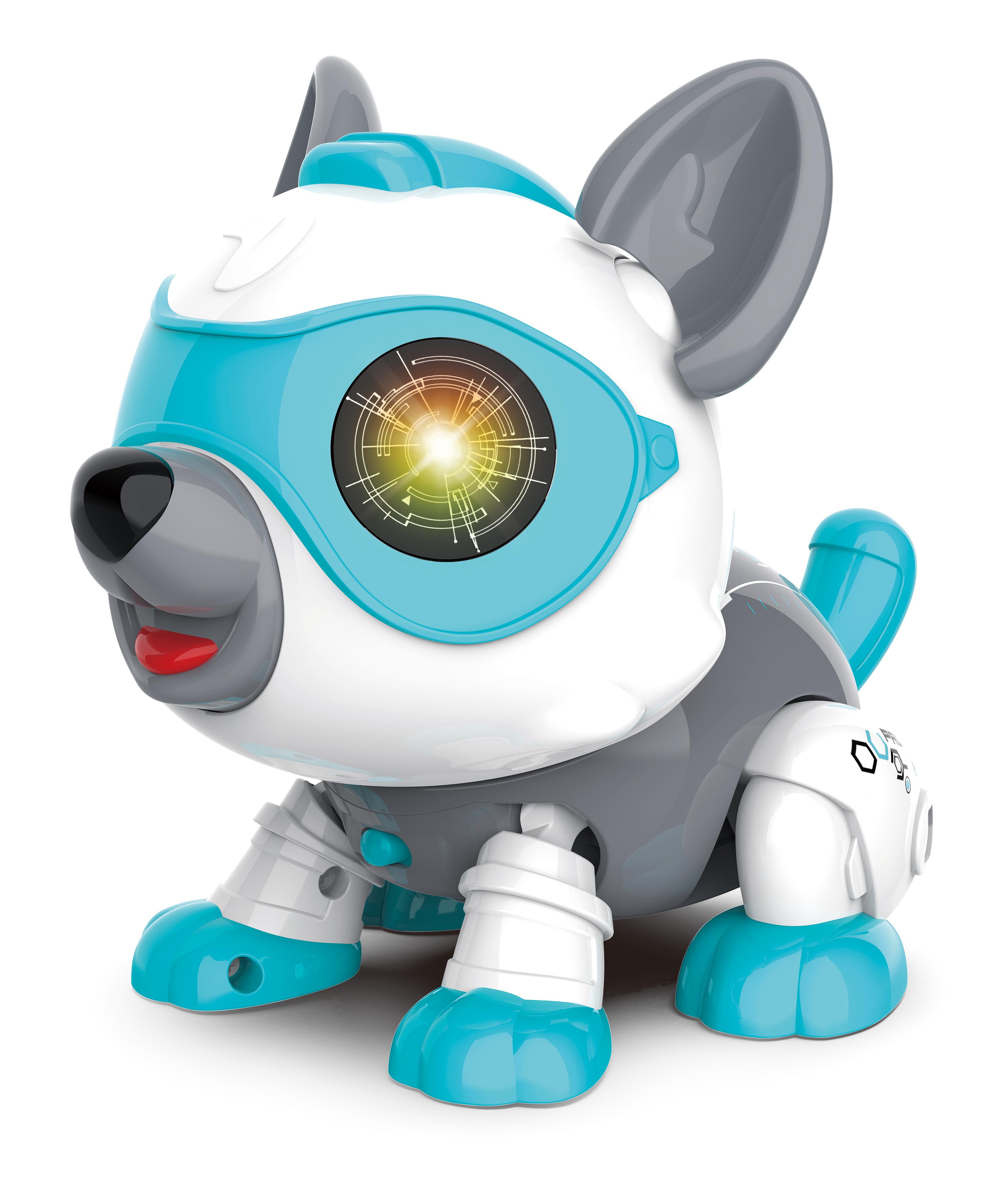Robot Dog Cute DIY Sing and Dance Parent-child Interactive Toys Blue DIY