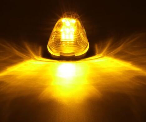 [US Direct] 9 LED Amber Marker Light Clear Lens for 99-16 Ford 150-550 Amber light