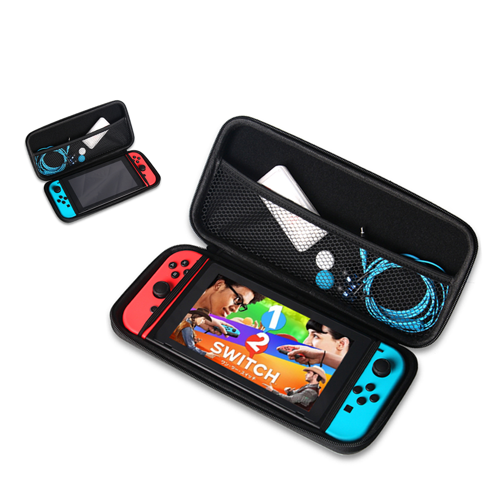 [US Direct] EVA Waterproof Hard Shield Protective Case Portable Carrying Case with Detachable Hand Wrist Strap for Nintendo Switch