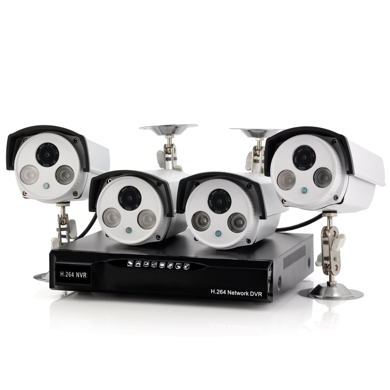 4 Channel NVR Set with 4x IP Cameras