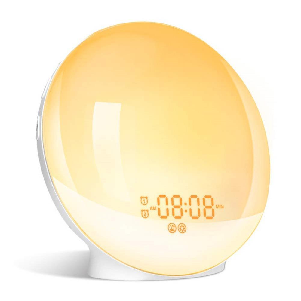7 Colors Change Simulate Sunrise Sunset Awakening Alarm Clock American plug