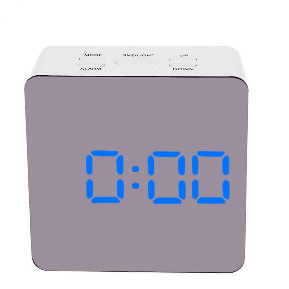Simple Home Multi-Function LED Digital Alarm Clock PVC Rectangular Light TS-S70-B
