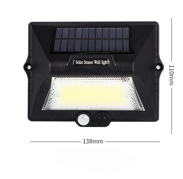 COB Solar Outdoor Wall Light Motion Sensor Lighting Environmental Lamp White light_588 models
