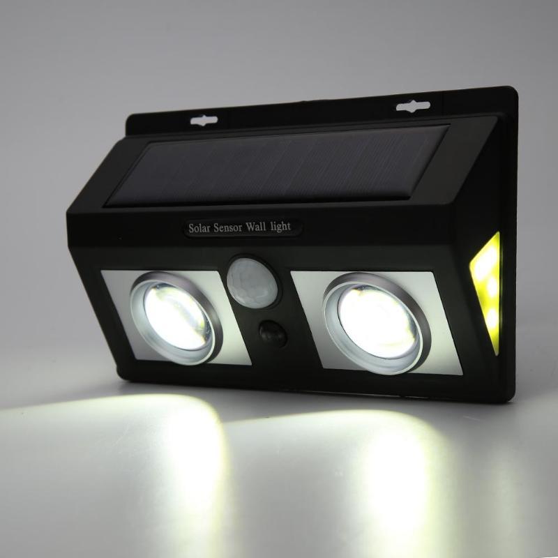 Double COB LED Solar Power Lamp Motion Sensor Wall Light Outdoor Garden Home Lighting White light_Double COB