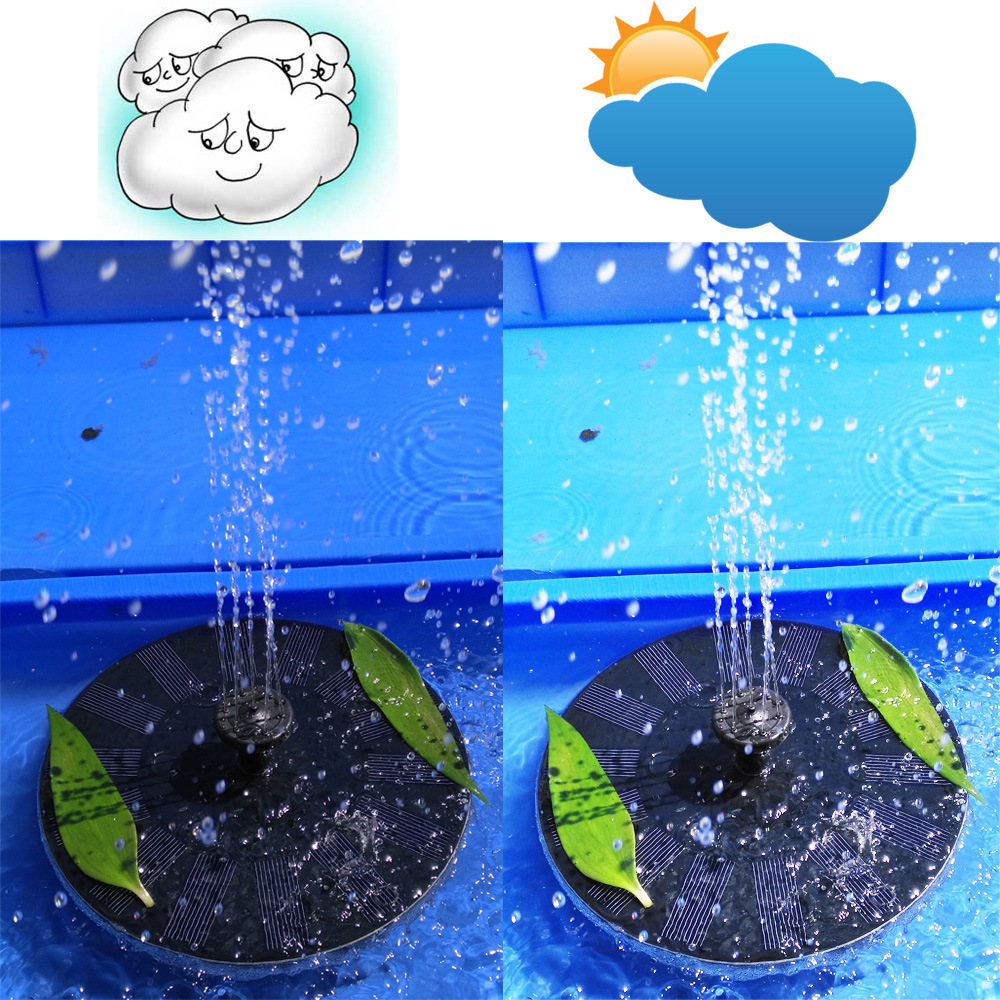 Solar Floating Fountain for Outdoor Water Basin Decoration Pond Swimming Pool Garden CF005