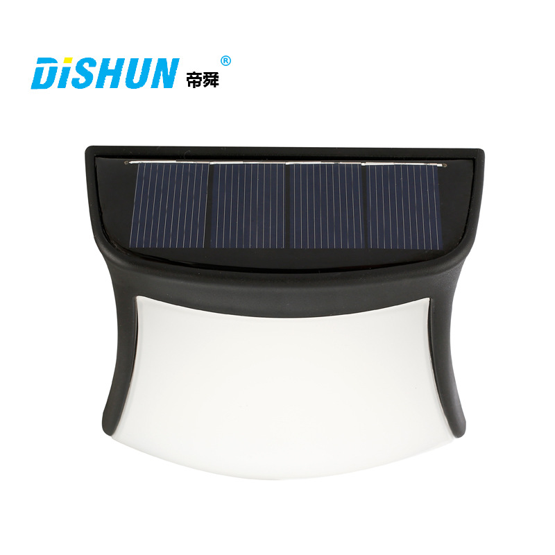 Gutter Fence Light Solar Lights 3 LED Wall Lamp Outdoor Security Lighting Nightlight for Garden Patio Path Driveway Cool white