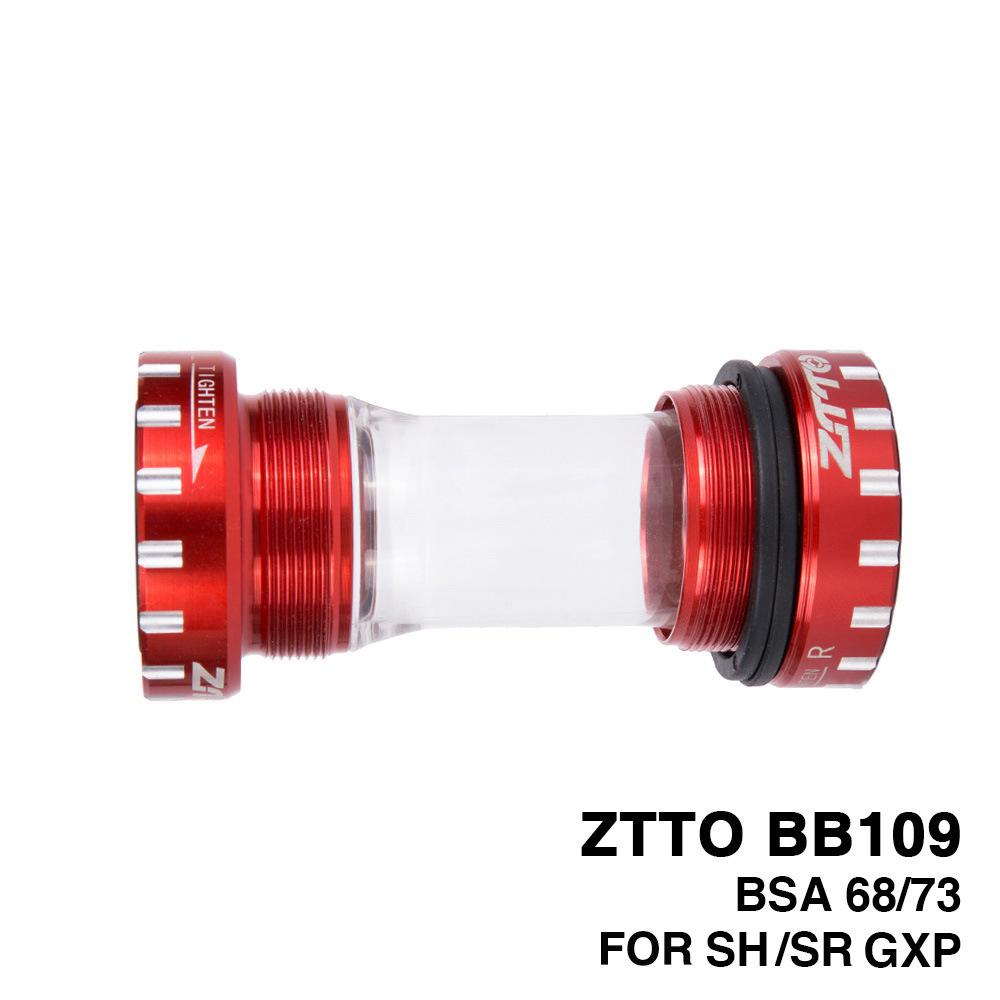 Press-in  threaded  bottom  bracket Mountain bike BB bottom bracket BB109 integrated hollow crankshaft red