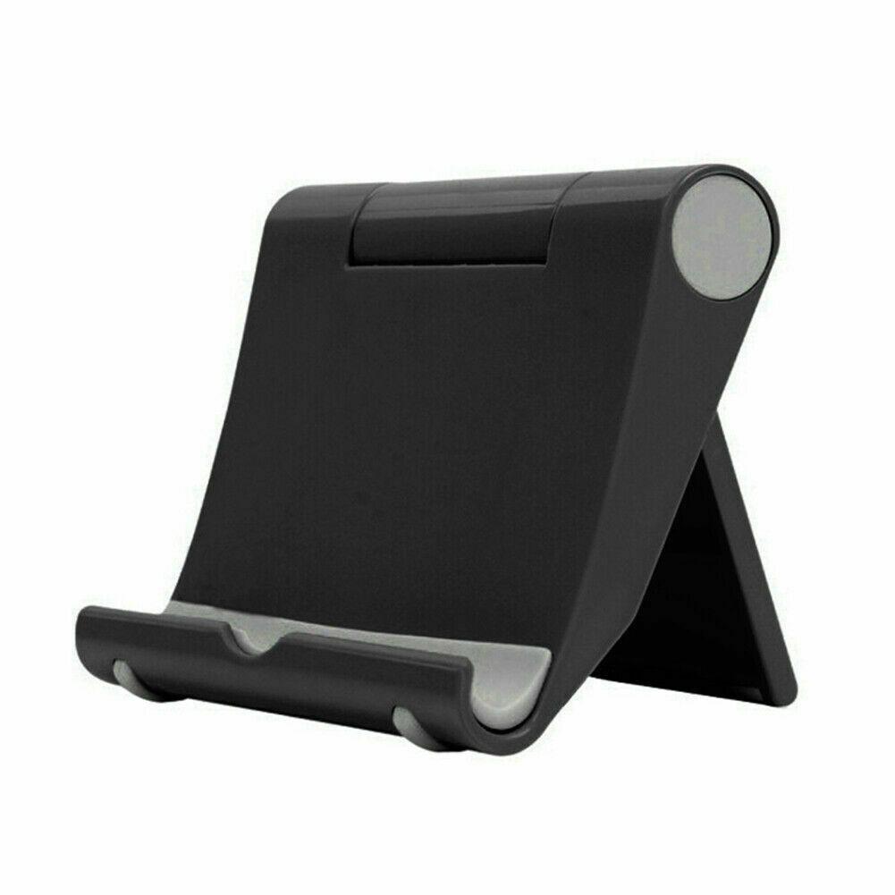 Folding Phone Tablet Holder Desktop Multifunctional Adjustable Mobile Phone Stand black