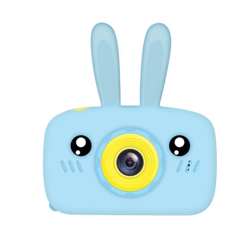 Children Digital Camera Portable Mini Cartoon Camera Toy Rabbit Pattern Camera Rabbit blue