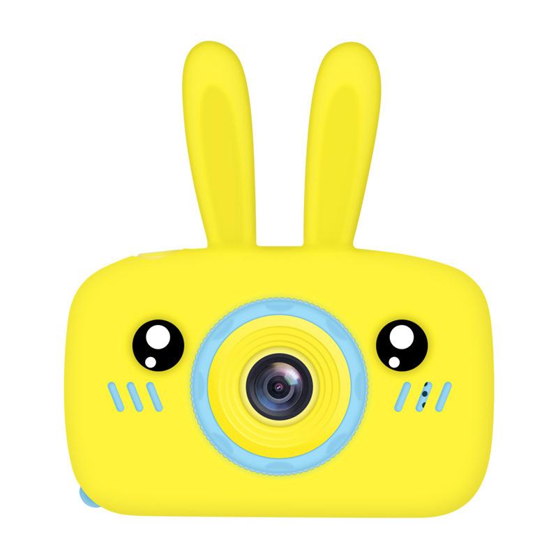 Children Digital Camera Portable Mini Cartoon Camera Toy Rabbit Pattern Camera Rabbit yellow