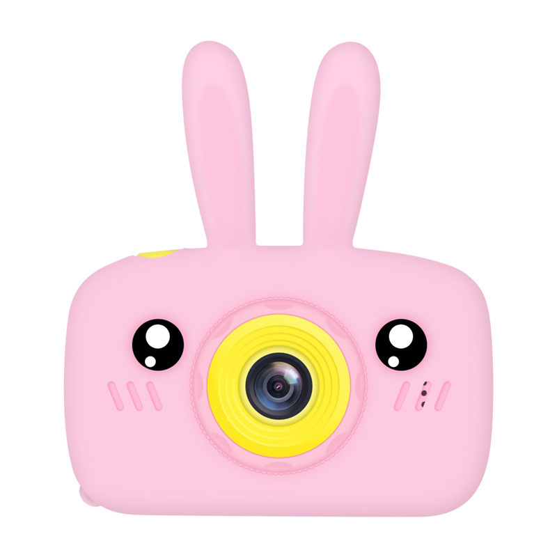 Children Digital Camera Portable Mini Cartoon Camera Toy Rabbit Pattern Camera Bunny pink