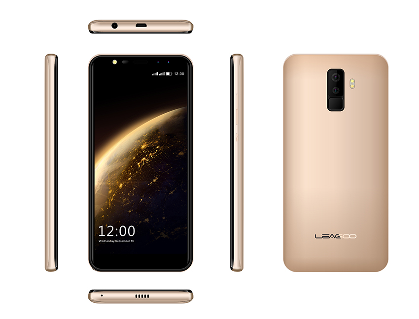 LeagooM9 5.5 Inch Smart Phone Gold