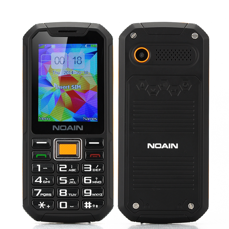 NOAIN 007 Rugged IP67 Phone (Orange)