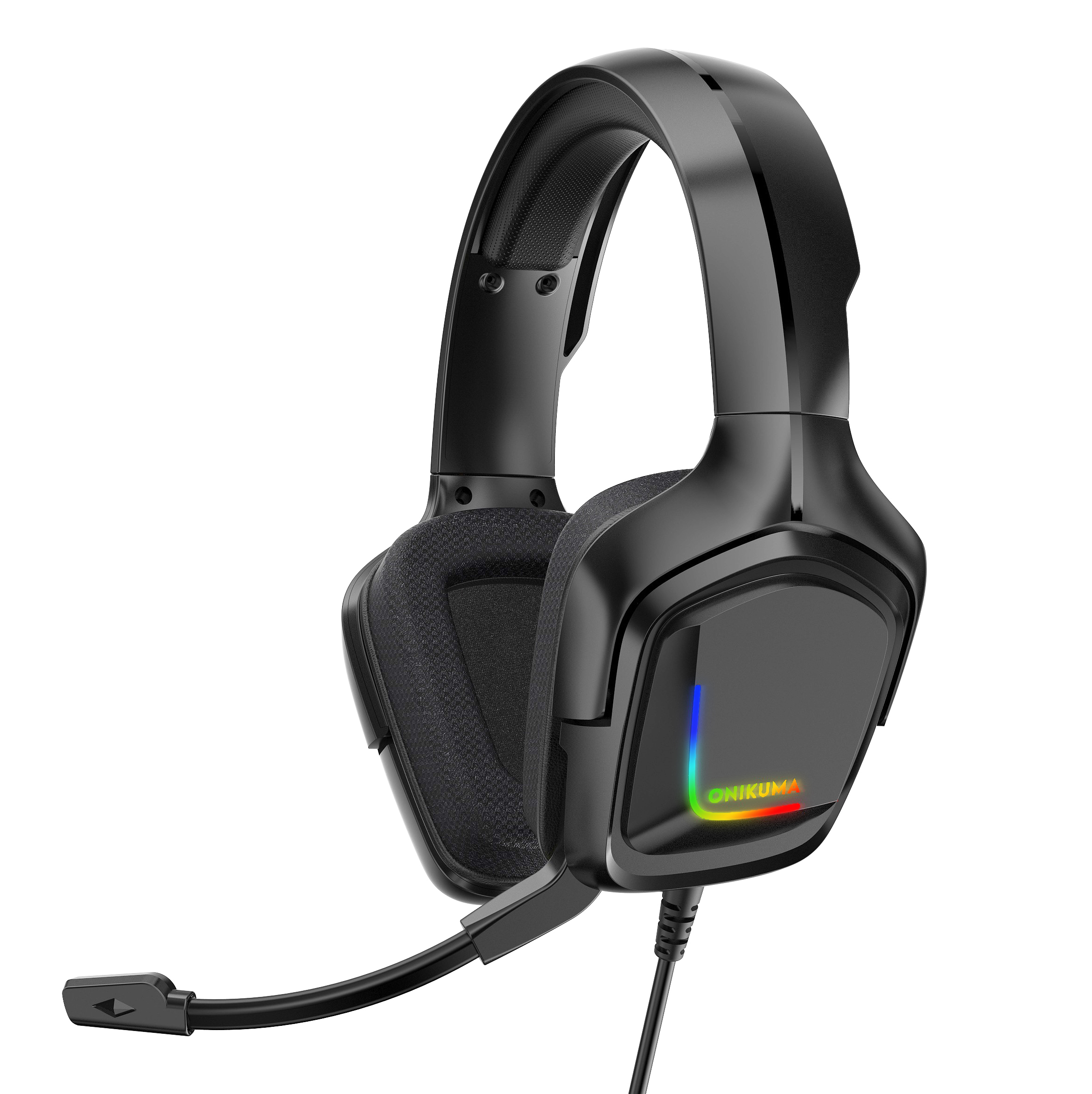 K20 Gaming  Headset Rgb Desktop Computer Eating Chicken Game Headset With Microphone black