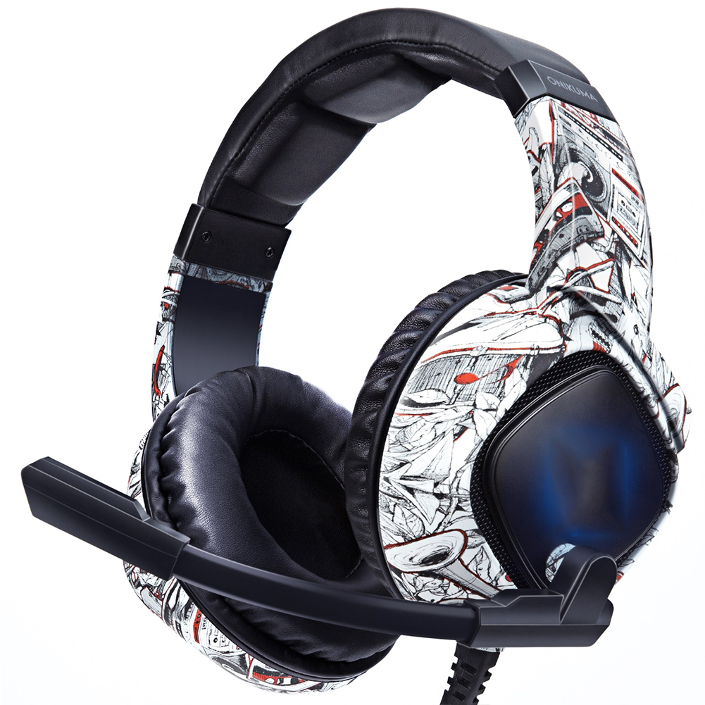 K19 Headset Game Rgb Mobile Computer Eating Chicken Game  Headset For Ps4 Camouflage white