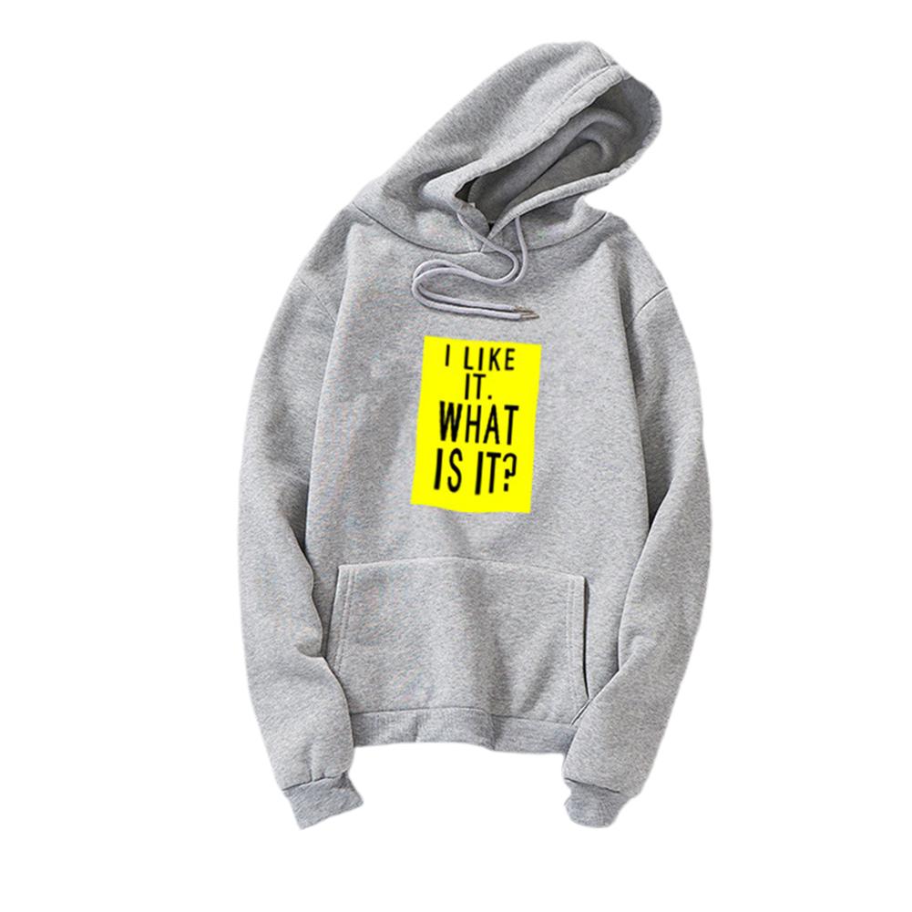 Couple Fleece Loose Thickened Long Sleeve Pocket Sweatshirts Hoody gray_XL