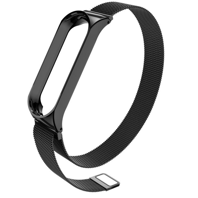 Replacement Strap for Xiaomi Bracelet 4 Metal Strap Wrist Strap Stainless Steel Replacement Strap  black