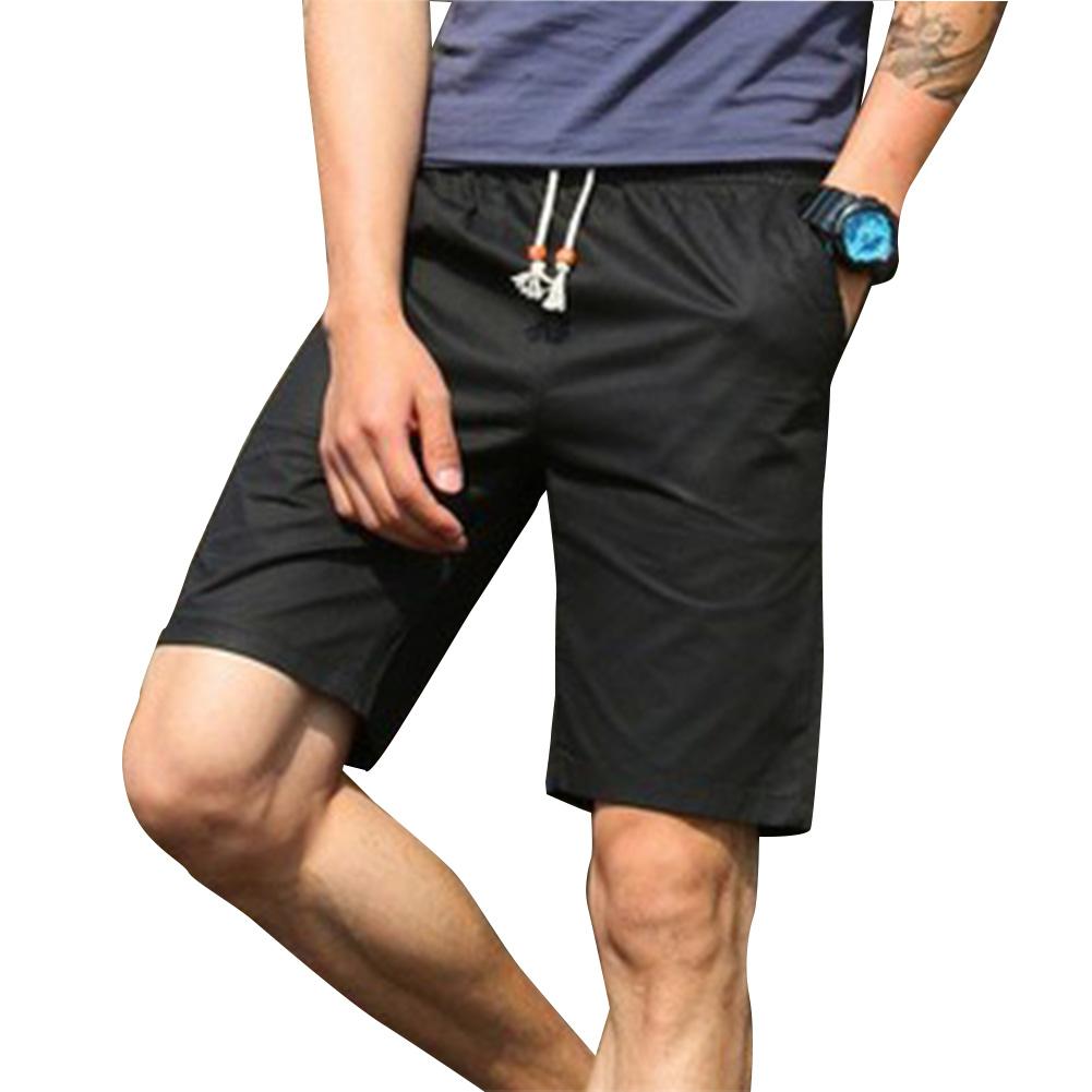 Men Simple Casual Beach Shorts  black_2XL